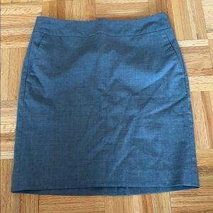 Banana republic size 2P grey suit skirt
